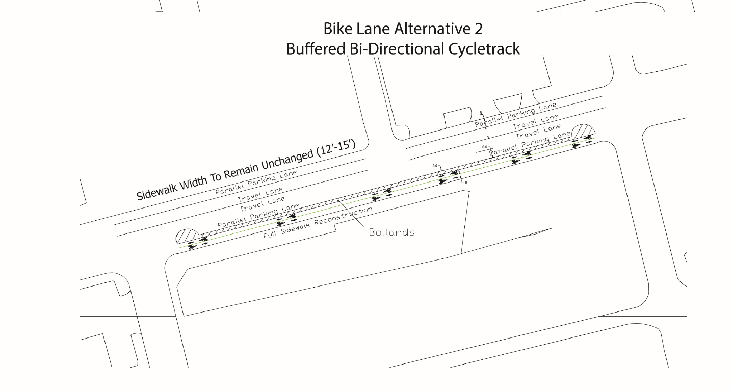 Commerce St. Cycle Track